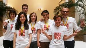 Il team di Ego Zehneder alla Milano Marathon per Aism