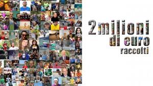 Il traguardo dei due milioni di euro rappresenta un momento importante e significativo soprattutto per quelle organizzazioni che hanno creduto in noi e nella vitalità dell'online fundraising e dei social media. Un sincero grazie a Fundraiser, donatori e Non Profit!