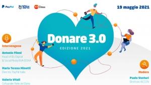 Donare 3.0 2021, la donazione digitale eguaglia il contante-