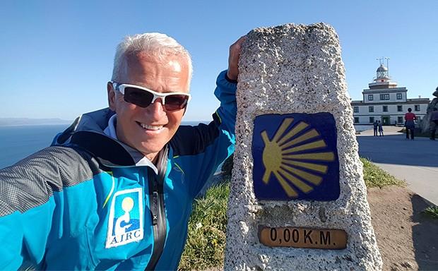 Alessandro Lorenzi al Cammino di Santiago